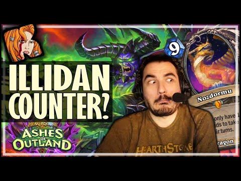 NOZDORMU COUNTERS ILLIDAN?! - Ashes of Outland Hearthstone