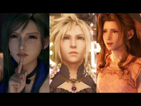 FINAL FANTASY 7 REMAKE - ALL 9 DRESSES (TIFA, CLOUD & AERITH)