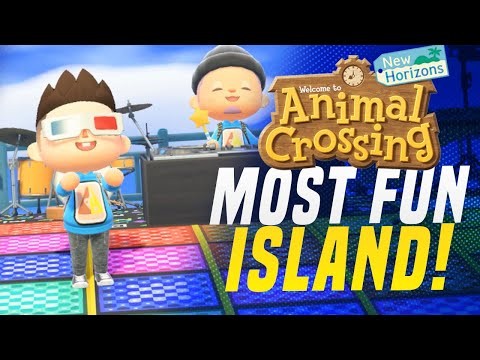 THIS 5 Star Island Is CRAZY and FUN! Animal Crossing New Horizons Island Tour!