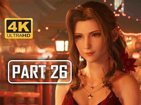 FINAL FANTASY 7 REMAKE Walkthrough Part 26 - Aerith's Makeover (4K PS4 Pro Gameplay)