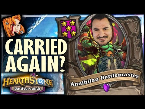 I ADMIT! HE CARRIED ME... - Hearthstone Battlegrounds