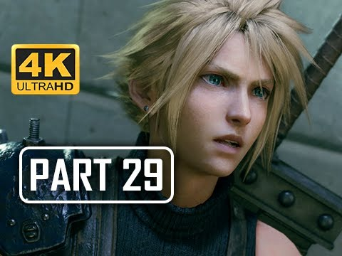 FINAL FANTASY 7 REMAKE Walkthrough Part 29 - Sewers (4K PS4 Pro Gameplay)