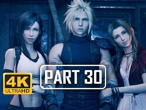 FINAL FANTASY 7 REMAKE Walkthrough Part 30 - Train Graveyard (4K PS4 Pro Gameplay)