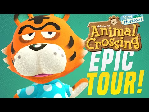 HOW To Build EPIC Animal Crossing 5 Star Island City... New Horizons Tour! (Animal Crossing Tips!)