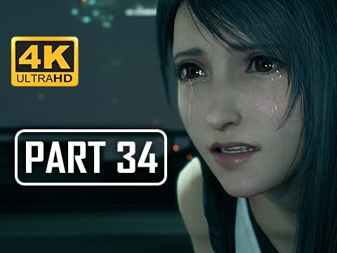FINAL FANTASY 7 REMAKE Walkthrough Part 34 - Biggs & Jessie (4K PS4 Pro Gameplay)