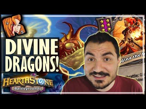 DIVINE BUILD + DRAGONS?! - Hearthstone Battlegrounds