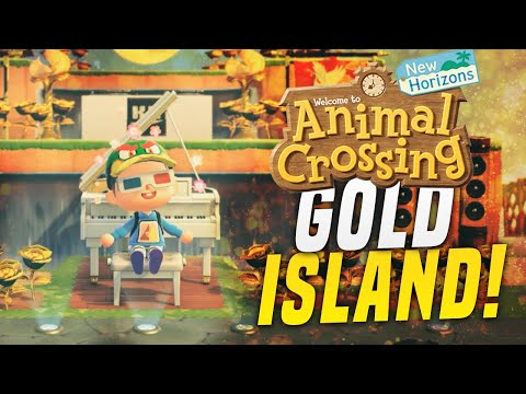Insane GOLDEN 5 Star Island Palace in Animal Crossing New Horizons! (Island Tour)