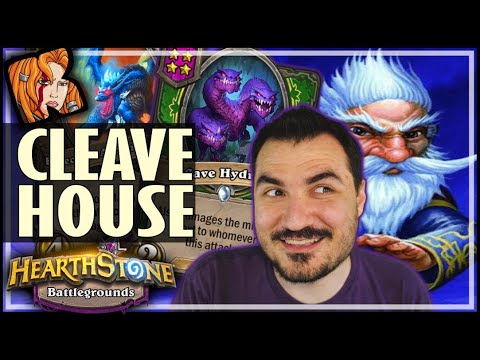 CLEAVE-HOUSE & DRAGON FRIENDS! - Hearthstone Battlegrounds