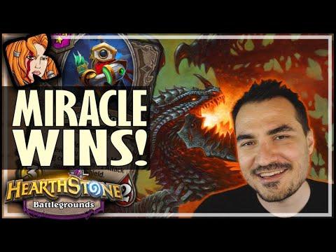DEFLECT-O-BOT = MIRACLE WINS! - Hearthstone Battlegrounds