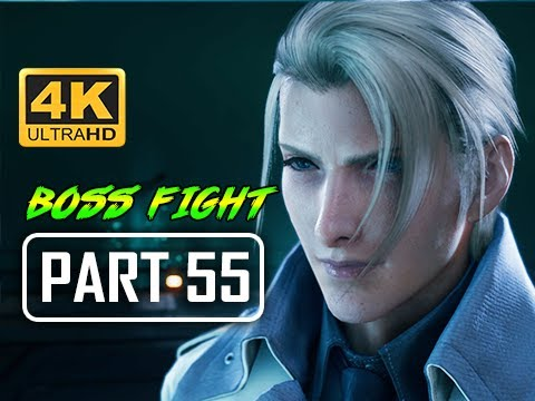 BOSS RUDE - FINAL FANTASY 7 REMAKE Walkthrough Part 55 (4K PS4 Pro Gameplay)
