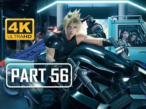 MOTORCYCLE CHASE - FINAL FANTASY 7 REMAKE Walkthrough Part 56 (4K PS4 Pro Gameplay)