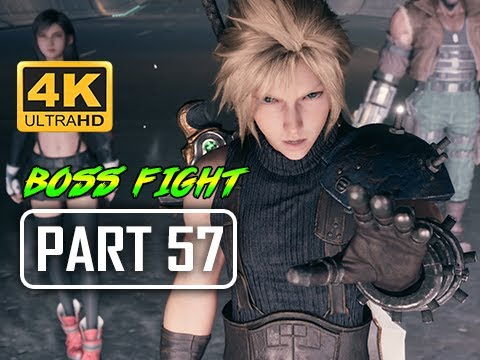 BOSS WHISPER HARBINGER FINAL FANTASY 7 REMAKE Walkthrough Part 56 (4K PS4 Pro Gameplay)
