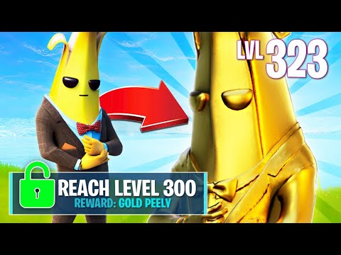 UNLOCKING GOLD PEELY! (Fortnite Battle Royale)