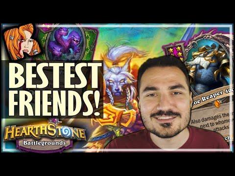 BESTEST FRIENDS BUILD! - Hearthstone Battlegrounds