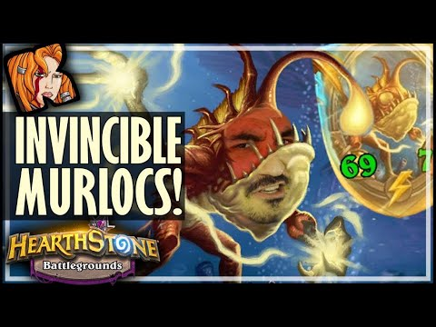 NEW INVINCIBLE MURLOC BUILD! - Hearthstone Battlegrounds