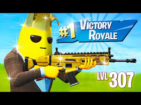 GOLD PEELY UNLOCKED! Leveling up FAST! (Fortnite Battle Royale)