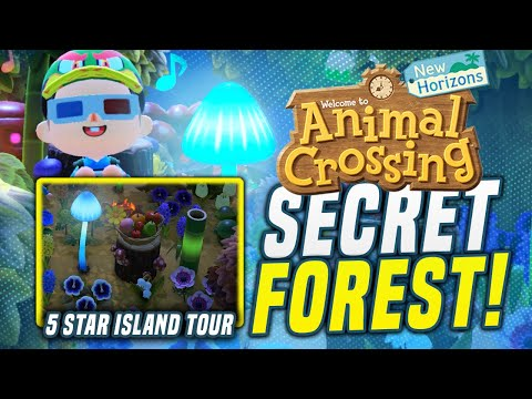 This HIDDEN 5 Star Island FOREST Is Beautiful! Animal Crossing New Horizons Island Tour