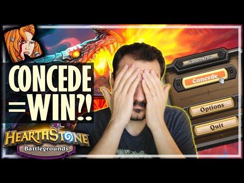 CONCEDE = WIN! - Hearthstone Battlegrounds