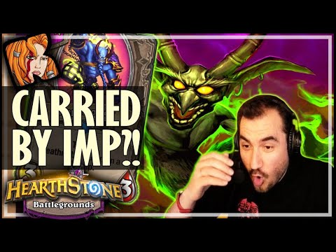 THIS IMP WAS JUST RIGHT! - Hearthstone Battlegrounds