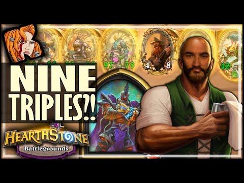 NINE TRIPLES + MURLOCS?! - Hearthstone Battlegrounds