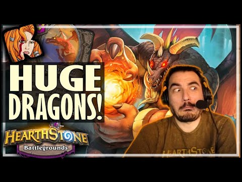 NOW THOSE ARE SOME HUGE DRAGONS! - Hearthstone Battlegrounds