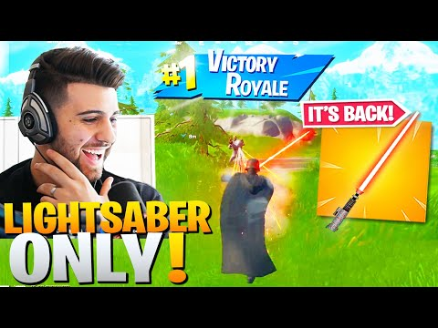Winning With *ONLY* Lightsabers Challenge! - Fortnite x Star Wars Event!