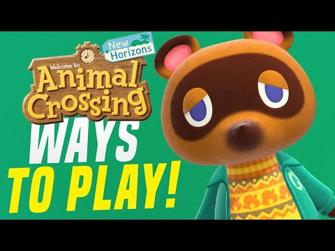7 CRAZY Ways For HOW To PLAY Animal Crossing New Horizons! (Switch Controller Tips)