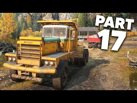 SNOWRUNNER Gameplay Walkthrough Part 17 - THE PACIFIC P16 IS A BEAST