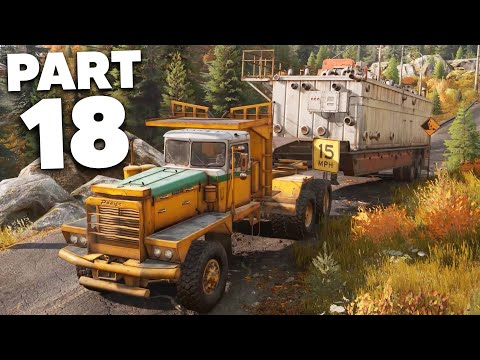 SNOWRUNNER Gameplay Walkthrough Part 18 - LARGEST AND HEAVIEST DELIVERY (Crazy Glitch)