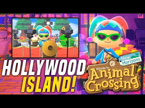 BEST 5 Star Island HOLLYWOOD Animal Crossing New Horizons Island!? (Island Tour)