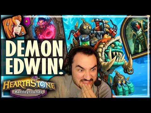 I FINALLY PLAYED DEMON-EDWIN! - Hearthstone Battlegrounds