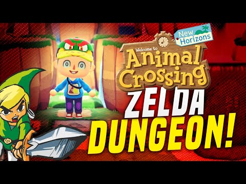 ZELDA in Animal Crossing New Horizons!  Cool 5 Star Island Dungeon! (Island Tour)
