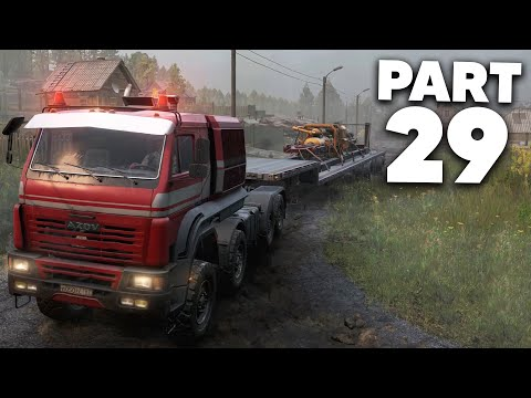 SNOWRUNNER Gameplay Walkthrough Part 29 - MOST AMBITIOUS DELIVERY YET (Russian Oil Rig Completed)