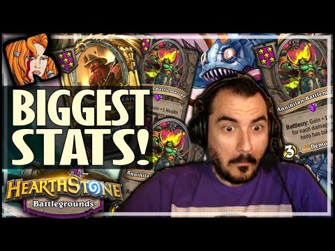 THE MOST STATS I'VE EVER HAD! - Hearthstone Battlegrounds