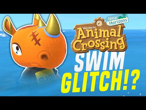 Hidden Features In Animal Crossing New Horizons!? Out Of Bounds, Swim Glitch (Animal Crossing Tips)