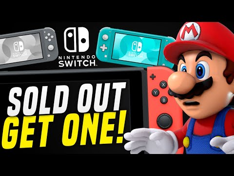 Switch SOLD OUT STILL...  HOW To Get One! Unannounced New Switch Games! (Switch News)