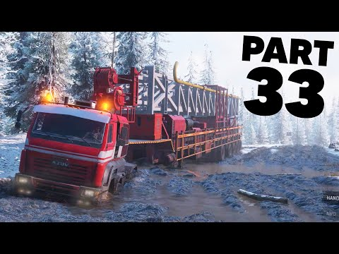 SNOWRUNNER Gameplay Walkthrough Part 33 - MASSIVE OIL RIG DELIVERY & FREE ANK MK38