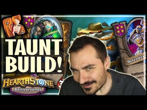 TAUNT BUILD WITHOUT BUFFS?! - Hearthstone Battlegrounds