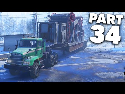 SNOWRUNNER Gameplay Walkthrough Part 34 - THIS TRUCK WILL SURPRISE YOU (Freightliner M916A1)