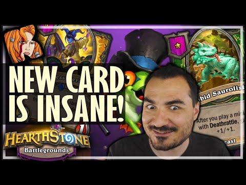 NEW SAUROLISK CARD IS INSANE! - Hearthstone Battlegrounds