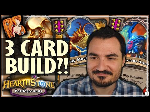 THIS 3 CARD BUILD CAN'T LOSE?! - Hearthstone Battlegrounds