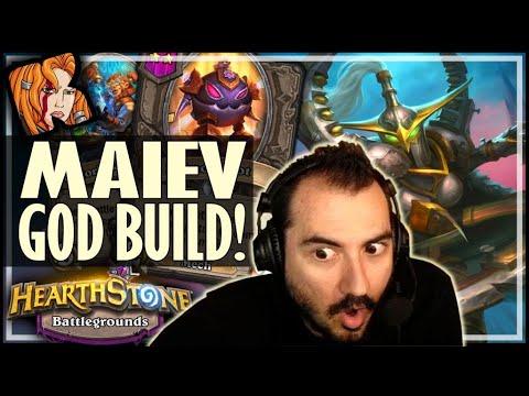 THE MAIEV GOD BUILD?! - Hearthstone Battlegrounds