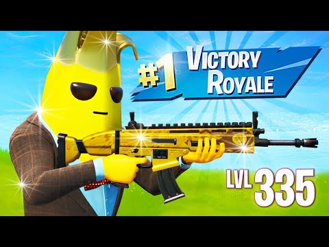 GOLD PEELY UNLOCKED! Winning in Solos! (Fortnite Battle Royale)