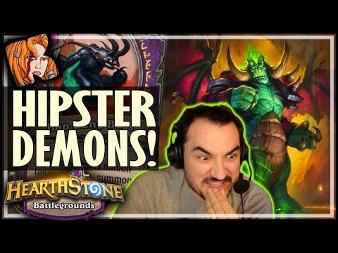 HIPSTER MEGA DEMONS! - Hearthstone Battlegrounds
