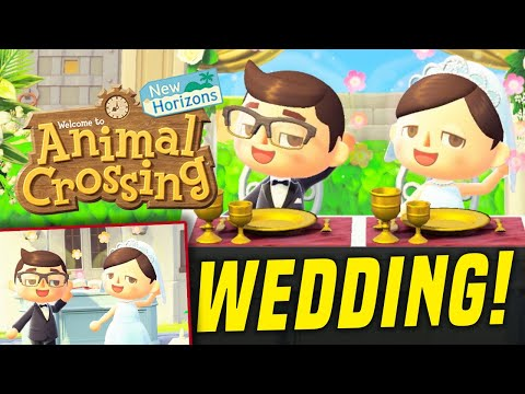 We Got MARRIED in Animal Crossing New Horizons! (Wedding)