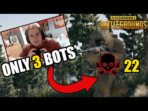 22 KILLS ONLY 3 BOTS!!! PUBG CONSOLE XBOX / PS4