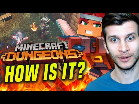 NEW Minecraft Dungeons Gameplay Is Here... IS IT GOOD!?