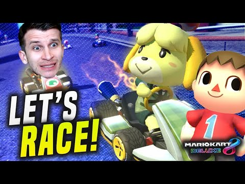 ANIMAL CROSSING in Mario Kart 8 Switch! RACE ME NOW!