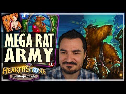 THE GIGANTIC RAT ARMY! - Hearthstone Battlegrounds