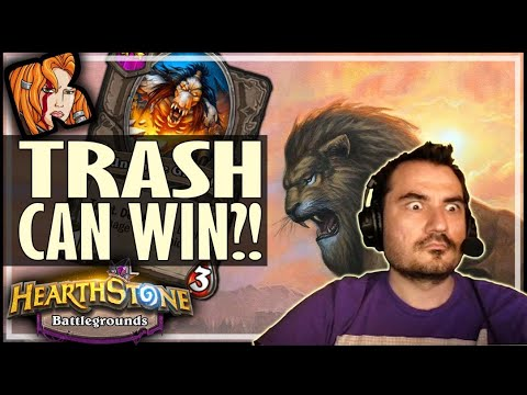 WINNING WITH TOTAL TRASH??? - Hearthstone Battlegrounds